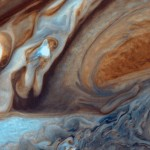 Red spot at the surface of Jupiter