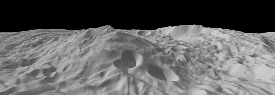 Rheasilvia basin generated from Dawn topographic data.
