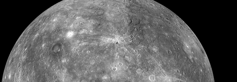 Mercury's cratered surface observed from MESSENGER.