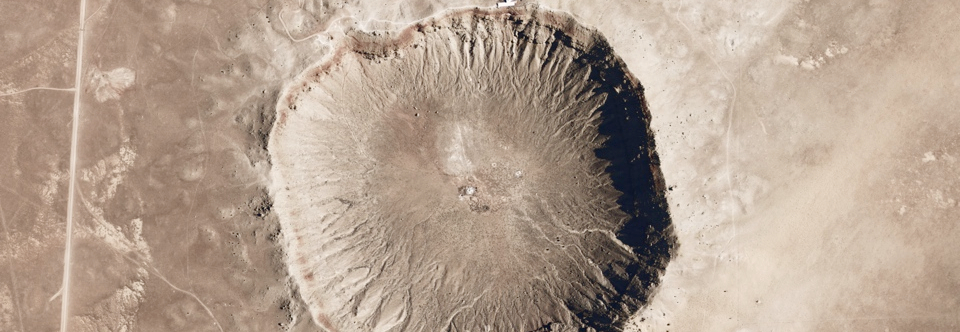50,000 yr old Meteor Impact Crater near Flagstaff, Arizona.