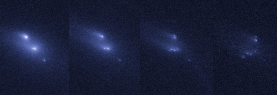 Research team discovers slowly disintegrating asteroid
